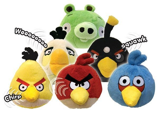 "Angry Birds - 5"" Mini plush with sound"