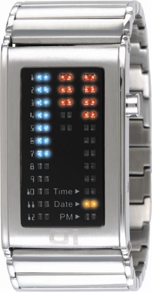 Binary Watch - Stainless Steel