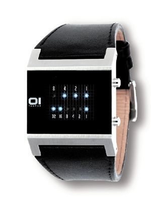 Square Binary Watch - Black
