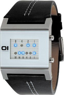 Square Binary Watch - White