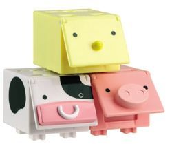 CUBees - 3 pack (Pig, Chick & Cow)