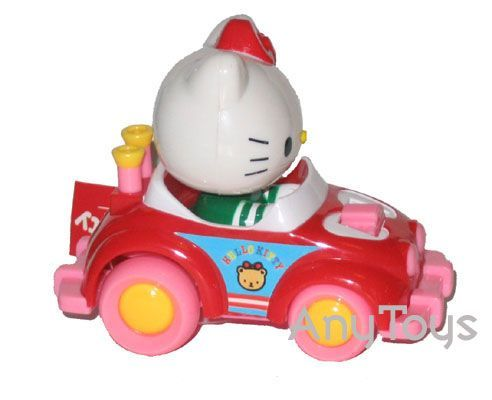 Hello kitty wind up car - Red