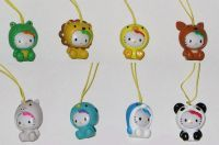 Hello Kitty costume swing charms - 8 pack set