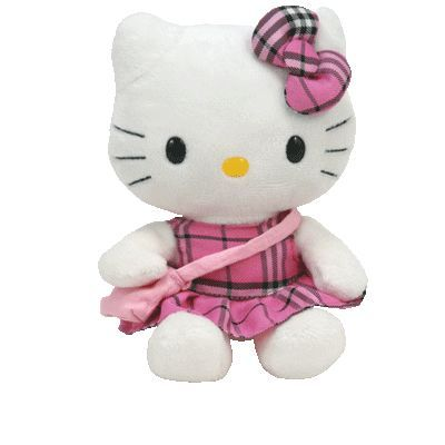 Hello Kitty - Pink Tartan plaid ty Beanie