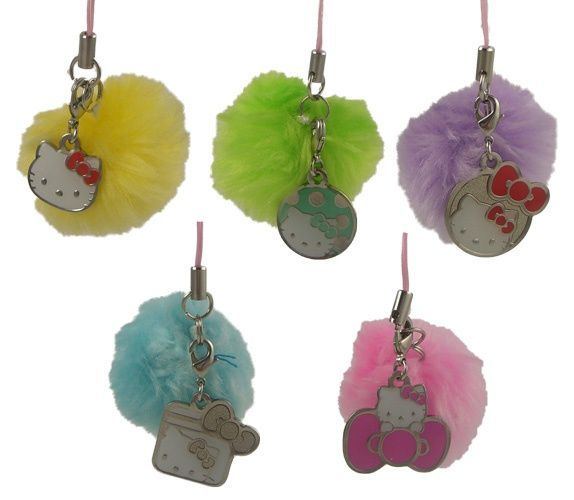 Hello Kitty pom-pom danglers - pack of 3