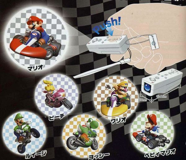 Mario Kart Wii Light Projector Gacha - pack of 2