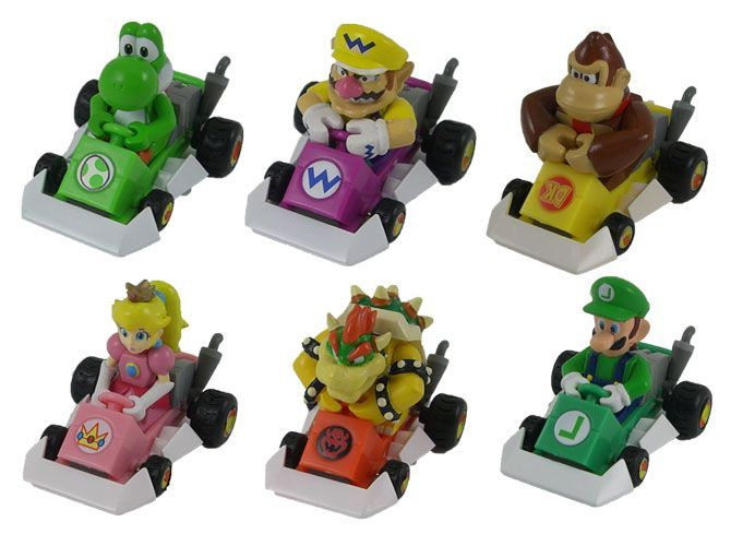 Mario kart Pull back racers 1 - Pack of 3