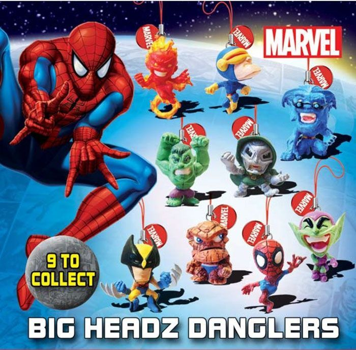 Marvel Big Headz Danglers – pack of 3