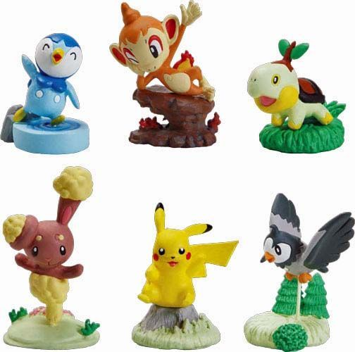 Pokemon buildable figures - pack of 6