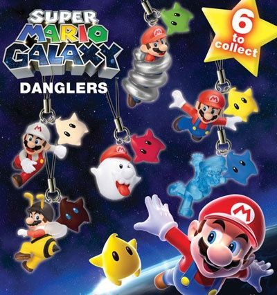 Super Mario Galaxy Danglers – pack of 3