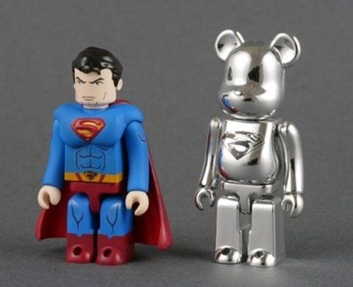 Superman Kubrick & Man of Steal Bearbrick set