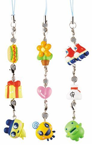 Tamagotchi 3 in 1 charms set