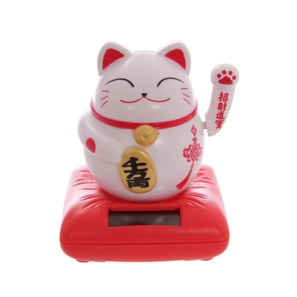 Waving Maneki Neko Japanese Lucky Cat