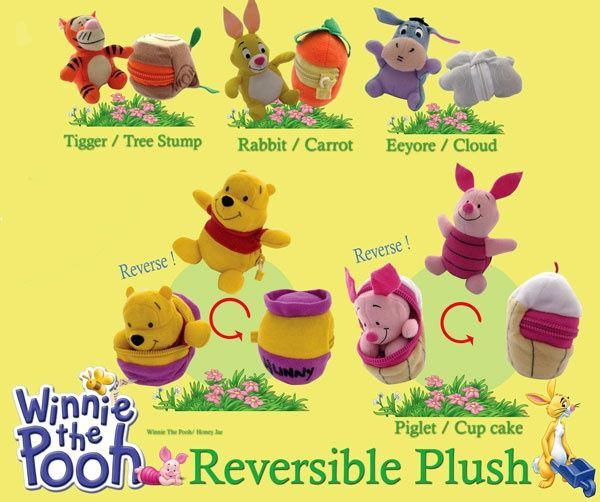 Winnie the Pooh reversible Plush - Pack of 2