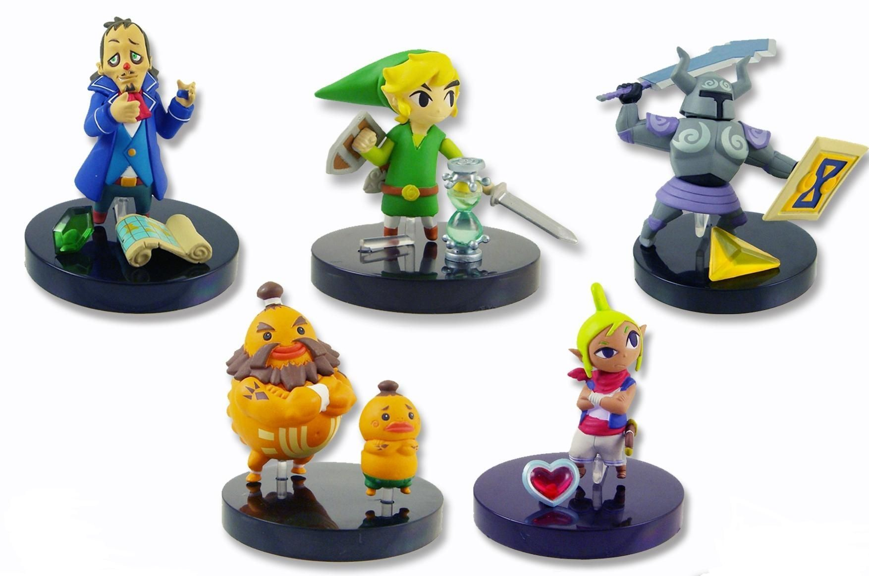 Zelda Phantom Hourglass buildable figures – pack of 3